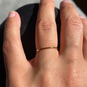 SS925 Gold Plated Stacking Band